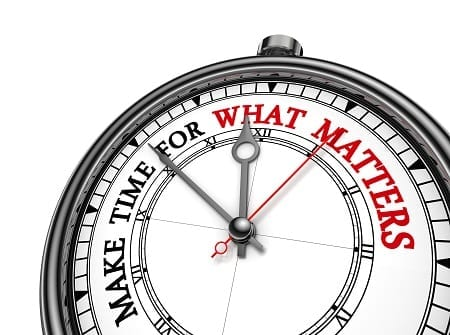 Make time for what matters, like measuring what matters. Credit: https://www.istockphoto.com/portfolio/donskarpo