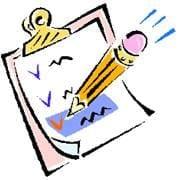 list on a clipboard