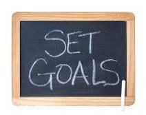 set goals written on black board